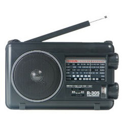 TECSUN R305 R-305 FM MW SW TV Bands Portable Radio With Built-In Speaker