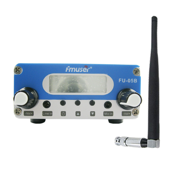 FMUSER FU-05B CZE-05B Siler 0.5W FM Radio transmitter with short antenna power supply KIT