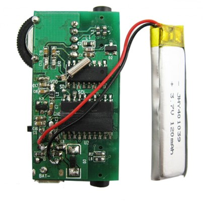FMUSER Coin Size FM Receiver Board Fixed Frequency Rechargeable Battery Advertise Gift FM radio OEM