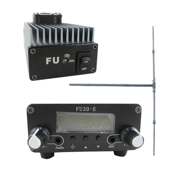 FU-30A 30W FM transmitter amplifier+0.2w FM exciter+1/2 wave DIPOLE antenna KIT