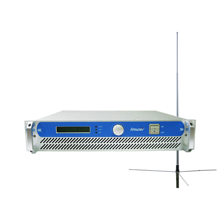 FMUSER FSN-801 80W 2U Professional FM Broadcast Radio Transmitter 87.5-108 MHz+1/2 Wave GP Antenna+15m SYV-50-5 Cable
