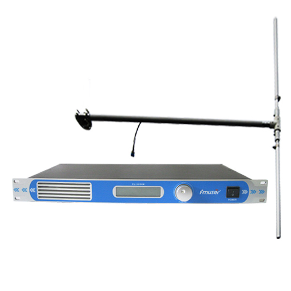 FMUSER FU-30/50B 50Watt​ Professional FM Transmitter FM Exciter 0-50watt​ Power Adjustable FM Broadcast Radio Transmitter+DP100 Dipole Antenna Kit