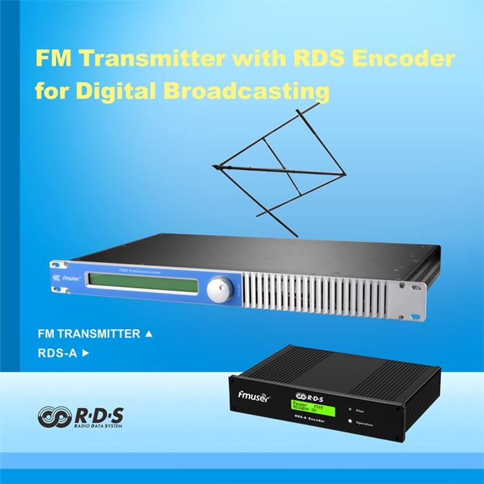 FMUSER FSN-150 100W 150W FM-radiosender + DP100 FM Dipole-antenna + 20m SYV-50-7 Pakket vir FM-radiostasie