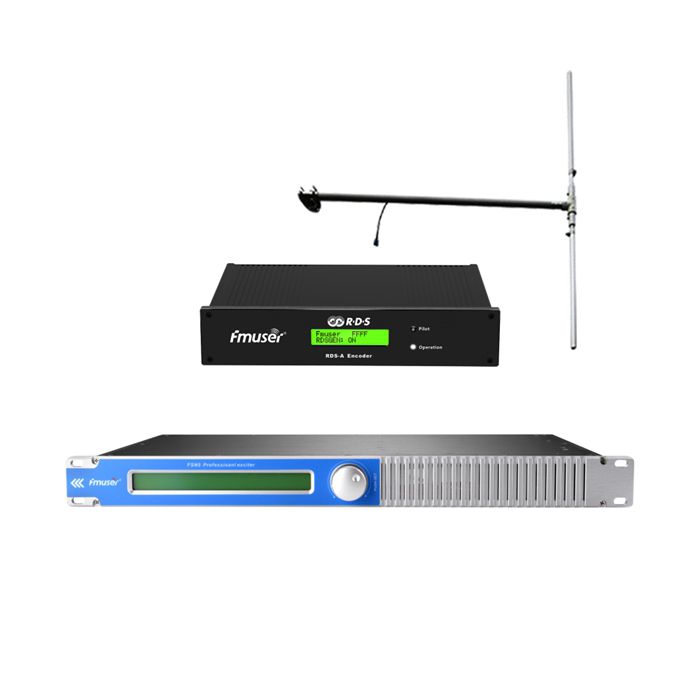 FMUSER 100Watt 150Watt FM Broadcast Transmitter + DP100 Antena + Itakda ang cable Sa Digital RDS Encoder Radio Data System Encoder Para sa FM Radio Station