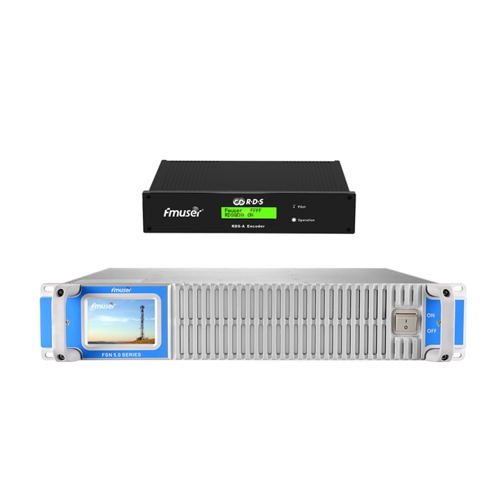 FMUSER 500W 600W FM Broadcast Transmitter With Digital RDS Encoder Radio Data System Encoder For FM Radio Station