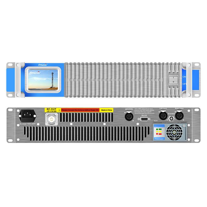 FMUSER FSN-2000T 2000Watt 2KW Compacte transmissor de ràdio FM d'estat sòlid amb pantalla tàctil per a estació de ràdio ciutat / comunitat / comercial