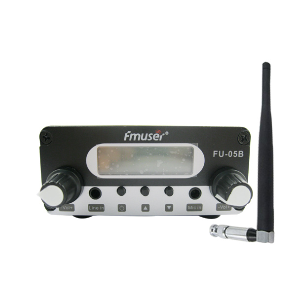 FMUSER FU-05B 0.5w FM Exciter Long Range Stereo FM Broadcast Transmitter Kit FM Radio Transmitter+Indoor Rubber Antenna Package For Small FM Radio Station