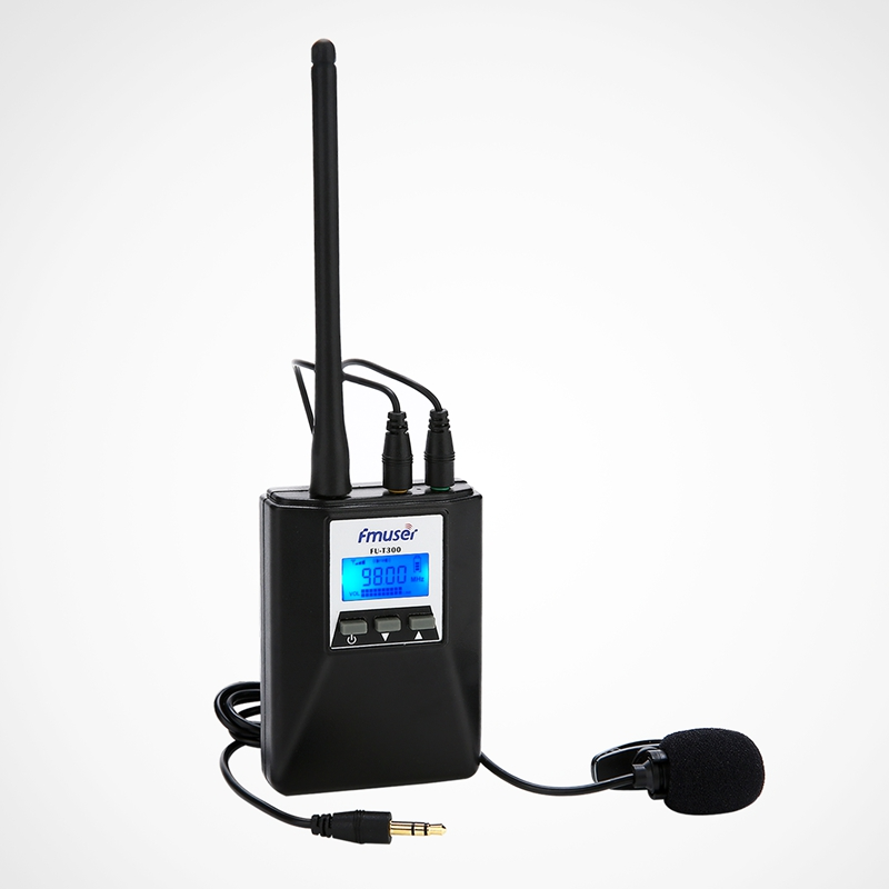 FMUSER FU-T300 0.2W FM Radio Transmitter Set Portable Lower Power FM Transmitter PLL Stereo/Mono For Light Show/Tourist Guide/Conference/Drive-in Cinema